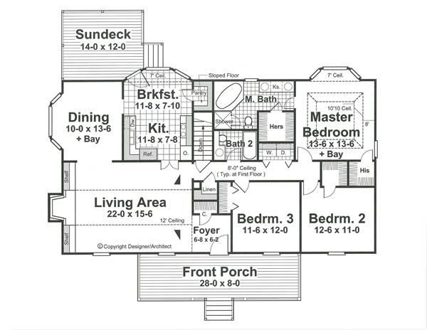 План 1 этажа Проект одноэтажного дома в скандинавском стиле с гаражом в подвале