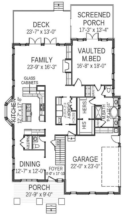 План 1 этажа План 2-этажного дома 14x25 254 кв м