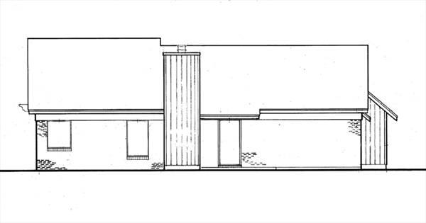 Вид сзади План 1-этажного дома 16x17 131 кв м