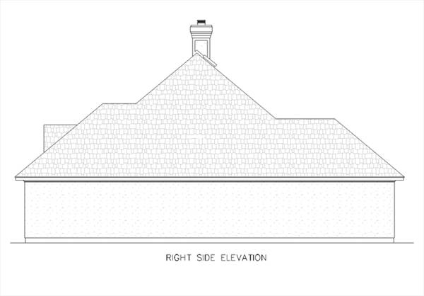Вид справа План 1-этажного дома с 4 спальнями 156 кв м