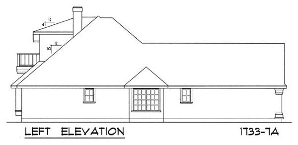 Вид слева Проект одноэтажного дома с мансардой с 8 угольной столовой 161 кв м