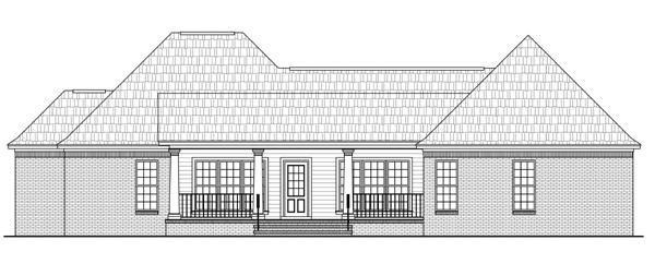 Этот красивый проект одноэтажного дома в стиле прованс площадью  до 200 кв.м с гаражом на 2 машины и с 3 спальнями подходит для постоянного проживания. В большой спальне есть ванная. Также перед домом есть веранда..