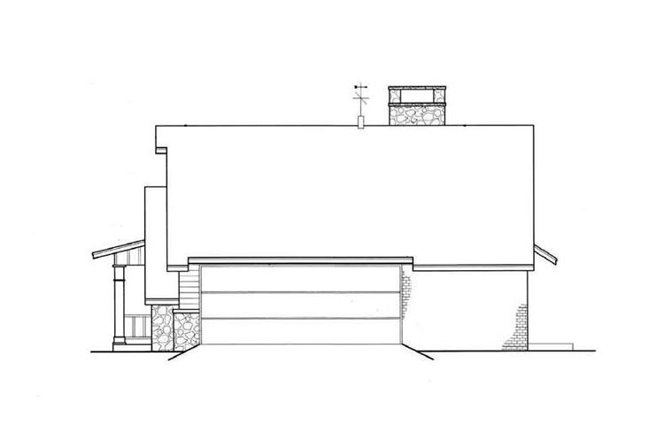 Вид справа План 1-этажного дома 23x11 149 кв м