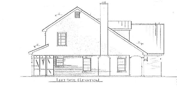 Вид слева План 2-этажного дома 14x16 с застекленной верандой