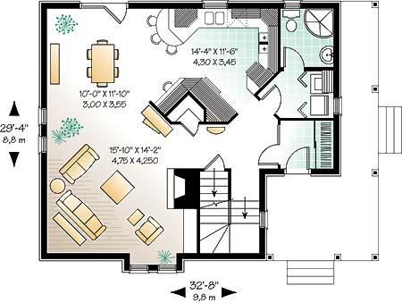 План 1 этажа Проект загородного дома дома с мансардой до 200 кв м  TD-4668