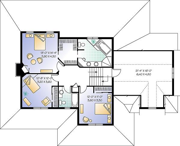 План 2 этажа План двухэтажного дома дома 17 на 12 198 кв м
