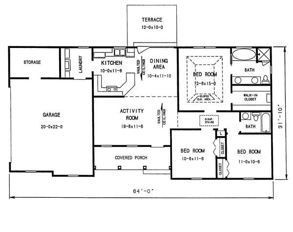 Этот популярный проект одноэтажного дома в английском стиле9 метров площадью  до 150 кв.м с гаражом на 2 машины и с 3 спальнями подходит для постоянного проживания. Также перед домом есть веранда..
