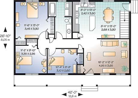 Отличный проект одноэтажного дома в финском стиле 12 на 8 метров площадью  до 150 кв.м с 3 спальнями подходит для постоянного проживания. Также перед домом есть веранда..