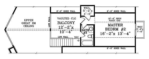 План 2 этажа План одноэтажного дома с мансардой в стиле шале JA-1878-2-3