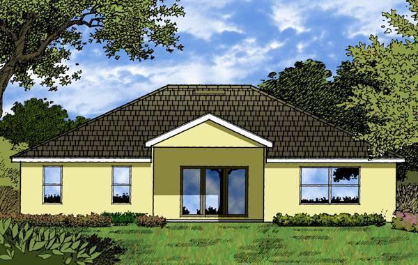 Интересный проект одноэтажного дома  площадью  до 200 кв.м с гаражом на 2 машины и с 4 спальнями подходит для постоянного проживания. Также сзади дома пристроена веранда..