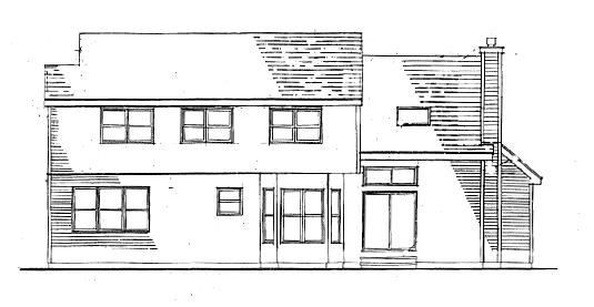 Вид сзади План 2-этажного дома JA-3382-2-4