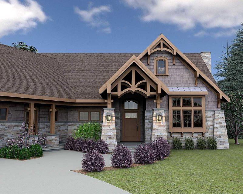 Популярный проект каркасного дома в стиле кантри площадью  до 250 кв.м с гаражом на 2 машины и от 2 до 5 спален подходит  строительства дома с цокольным этажом на участке с уклоном.  Проект дома с 3D планировками