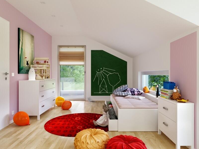 Прекрасный современный проект дома с мансардой из пеноблоков для семьи с двумя детьми. Простая форма дома 10 на 10 метров и двускатная и плоская крыша.