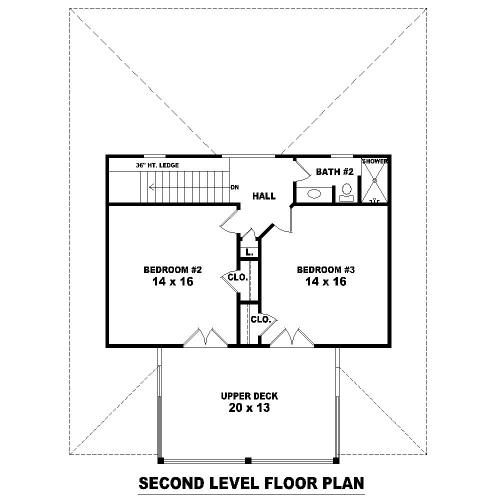 План 2 этажа План 2-этажного дома 12x15 161 кв м
