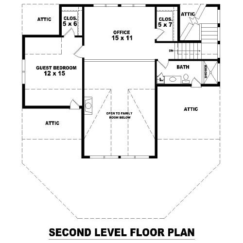 План 2 этажа Проект дома в стиле шале с цокольным этажом и панорамным окном