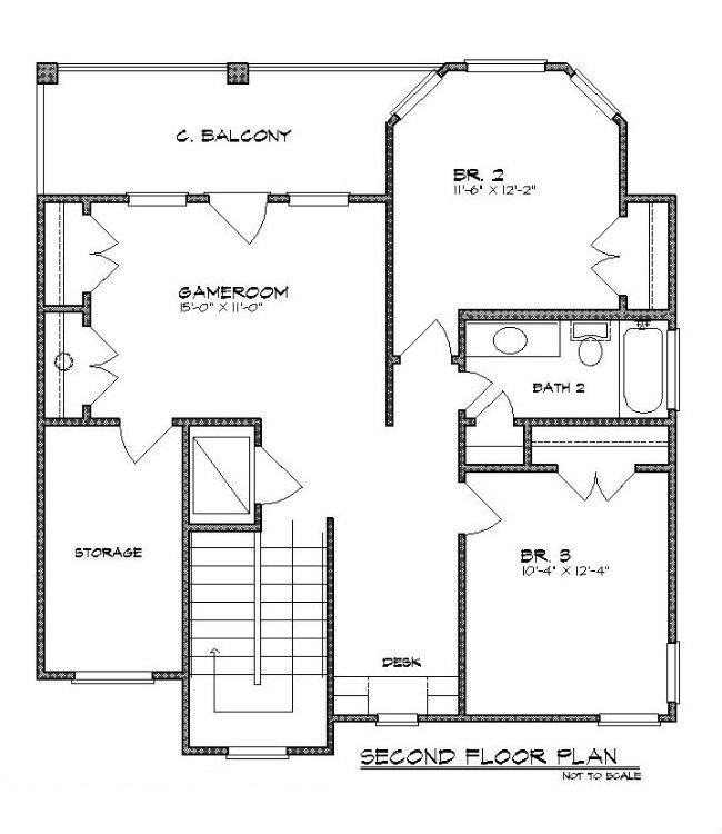 Этот практичный проект двухэтажного каркасного дома  площадью  до 250 кв.м с гаражом на 2 машины и с 3 спальнями подходит для постоянного проживания. В большой спальне есть ванная. В проекте дома есть терраса..