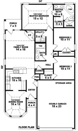 Интересный проект одноэтажного дома  10 на  площадью  до 150 кв.м с гаражом на 2 машины и с 3 спальнями подходит для постоянного проживания. Также сзади дома пристроена веранда..
