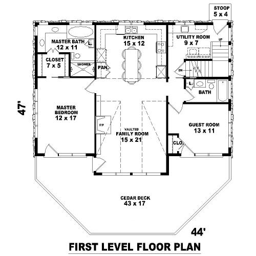 План 1 этажа Проект дома в стиле шале с цокольным этажом и панорамным окном