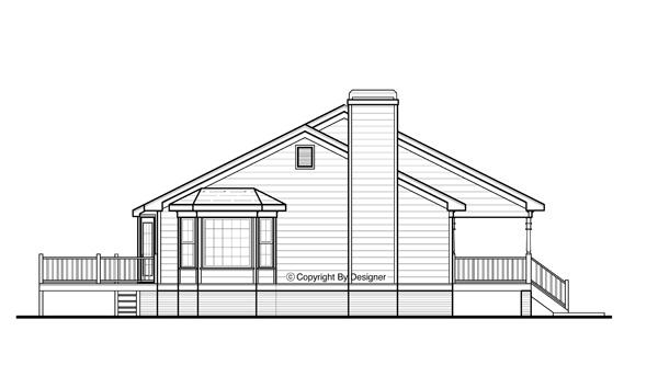 Этот практичный проект одноэтажного дома 12 метров площадью  до 200 кв.м с 3 спальнями подходит для постоянного проживания. В большой спальне есть ванная. В проекте дома есть терраса..