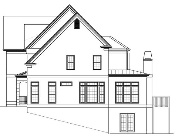 Вид справа План 2-этажного дома 13x16 JL-1427-2-5